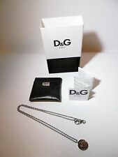 Authentic Dolce & Gabbana D&G Logo Pendant Necklace DJ0970 ~ NEW IN BOX