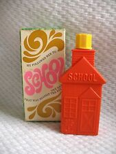 Vintage Avon Bubble Bath 1968 School House Retro Bottle in Original Box