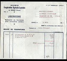 """DANGE (86) FERMENTS & CAMEMBERT / LAITERIE LABORATOIRE """"COOPERATIVE LACTAIRE"""""""