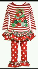 BONNIE JEAN Baby Girl Size 2T Christmas Tree Dress & Legging Set MSRP $54.00