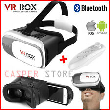 Universal 3D Virtual Reality VR BOX V2.0 Glasses Headset + Bluetooth Remote UK