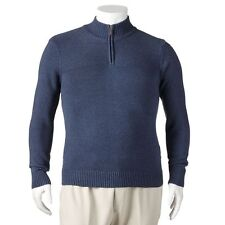 New Men Dockers 1/4 -Zip Front Solid Cotton Sweater - Multi Colors - BIG & TALL