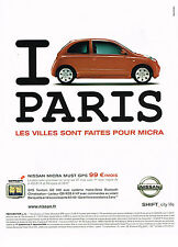 PUBLICITE ADVERTISING 114  2005  NISAN  la MICRA CITY LIFE