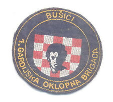 CROATIA ARMY - HVO - 1ST GUARD ARMOUR BRIGADE BUSICI sleeve patch