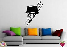 Wall Stickers Vinyl Decal Death Skeleton Skull Dagger War Helmet z1008