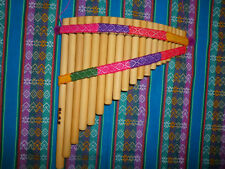 PROFESSIONAL  PAN FLUTE-20  PIPES -SEE VIDEO -FROM PERU -CASE INCLUDED