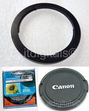 Filter Metal Adapter As FA-DC67A + UV + Lens Cap For Canon Powershot SX20 IS