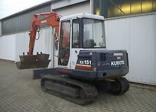 Kubota KX 151 Excavator / Digger  - Parts Manual.