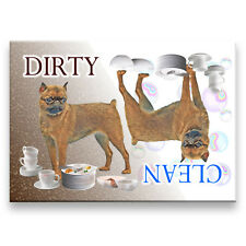 BRUSSELS GRIFFON Clean Dirty DISHWASHER MAGNET No 1 DOG