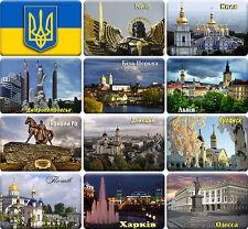 12 souvenir fridge magnets - UKRAINE