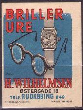 DANMARK - BRILLER URE H. WILHELMSEN - RARO ERINNOFILO PUBBLICITARIO - ANNI '30