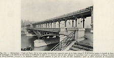 75 PARIS METROPOLITAIN VIADUC DE PASSY IMAGE 1948 PRINT