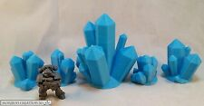 HC3D - Crystals BLUE Medium 5 Pack -Terrain-Scenery-Fantasy