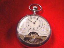 HEBDOMAS 8 DAY OPEN FACE SWISS POCKET WATCH !  #202AR