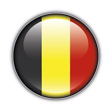 Belgium Flag Glossy Label Car Bumper Sticker Decal 5'' x 5''