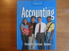 Accounting (Chapters 1-18) by Charles T. Horngren, Michael A. Robinson, Linda...