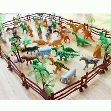Lot 68 Plastic Farm Yard Wild Animals Fence Tree Model Toys Figures Play Set