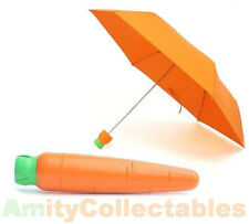 CARROT UMBRELLA Plastic Case, Orange, Fruit, Vegetables, Veg, Folding, Gift