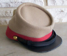 Confederate Artillery Kepi Butternut/Red, Civil War Hat, New