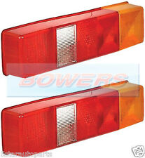 2x LDV FORD TRANSIT TIPPER LUTON FLATBED BOX VAN TRUCK REAR TAIL LAMP LIGHT LENS