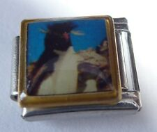 CRESTED PENGUIN Italian Charm PE40 - fits ALL 9mm Classic Starter Bracelets Bird