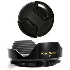 67mm Wide Lens Hood and Lens Cap for Canon EOS 7D 50D 60D 600D T3i 18-135mm, NEW