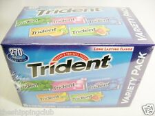 1 x TRIDENT VARIETY 15 PACK Chewing Gum Bubble Candy Sugar Free