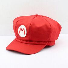 Cappello Super Mario luigi Nintendo rosso carnevale costume cosplay super bros