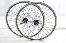 "SALE 26"" MTB DISC BRAKE 8/9 CASSETTE SEALED HUB GREEN AIRLINE DOUBLE WALL RIMS"