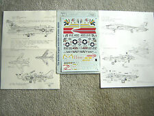 "A-7E CORSAIR/F-14A TOMCAT ""VA-87GOLDEN WARRIORS/VF-32"" MICROSCALE DECALS 1/48"