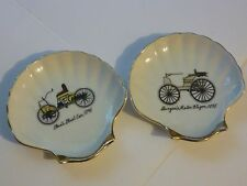 Vintage Ashtray, Old Car Designs Ashtrays / Set of 2, Ford's First Car