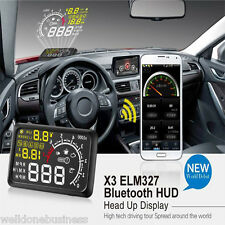 X3 Universal Car Bluetooth HUD Head Up Display OBD2 Speedometer Speed Warning