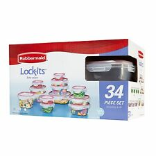 Rubbermaid Easy Find Lids Lock-its Food Storage Container BPA-free Plastic 34...