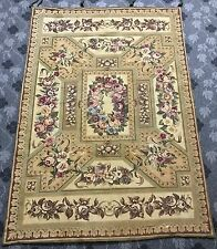 Stampa antica francese inglese Design Aubusson TAPESTRY 104 by187 cm