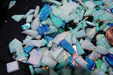 LAB CREATED OPAL Rough 160+ Carat MIX MULTI -COLOR  1 OZ+ End Cuts + Thin Slabs