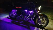 10 Pc White Neon Flexible LED Motorcycle Lighting Kit with Remote and EFX!