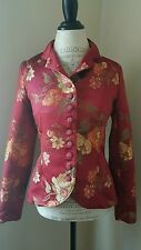 Firuze Floral Brocade Embroidered Jacket sz M