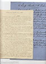 1 lettre copie princesse Clementine d'Orléans Saxe + 1 LAS Louis d'Orléans 1856