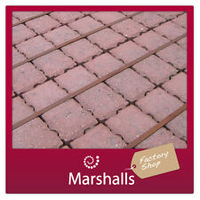 Marshalls Priora Permeable 80mm Driveway Block Paving Red MIN ORDER REQR'D