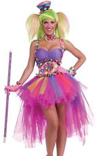 Adult Sexy Female Circus Clown Tutu Lulu The Clown Costume Dress - Fast Ship -