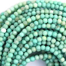 "3mm green chrysoprase round beads 16"" strand"