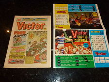 VICTOR Comic - Issue 1233 - Date 06/10/1984 - Inc FREE FOOTBALL CALENDER