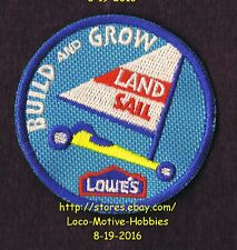 LMH PATCH Badge  LAND SAIL Pinewood Race Car LOWES Build Grow Project Series