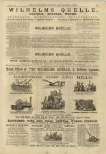 1879 Wilhelms Quelle Mineral Water Ransoms Portable Engines Dunkirk Casino