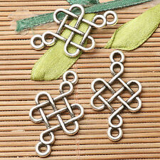 12pcs dark silver color Chinese knot  connector design  EF2711