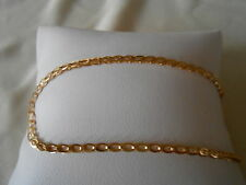 """New QVC Vintage 14k Yellow Gold 8"""" Double Oval Link Chain Bracelet"""