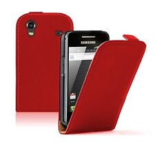 Ultra Slim RED Leather case for Phone Samsung Galaxy Ace GT-S5830i / S5839i
