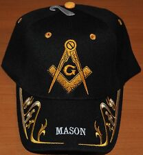 EMBROIDERED BLACK BLUE CAMO WHITE MASON MASONIC LODGE CAP HAT FREEMASONRY