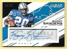 2015 Panini Clear Vision C THRU #BS Barry Sanders Autograph Insert Card #15/25