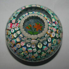JOHN DEACONS SCOTLAND MAGNUM PAPERWEIGHT ROSES PORTHOLE FLORAL SPRAY